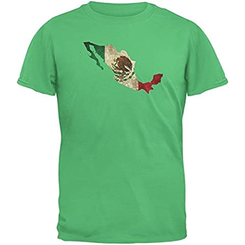 Cinco de Mayo–Mexico silueta irlandés verde adulto camiseta