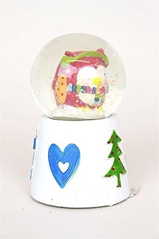 Christmas Owl Decorative Snow Globe