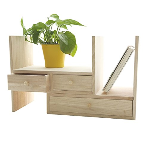 sktop Organizer mit Schubladen Multifunktions Freistehende DIY Display Regal Rack/Counter Top Bücherregal (34 * 21 * 28 cm) ()