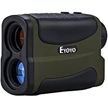 Eyoyo 6x impermeable multifunción Golf telémetro láser con Golf Ranging, Scan, asta de bandera de bloqueo, Niebla y función de velocidad (Verde)