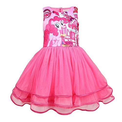 QYS Mein kleines Pony Kostüm Mädchen Cartoon Childs Kinderkostüm Outfi,120cm