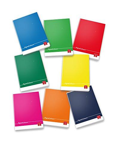 Pigna colours 02298861r, quaderno formato a4, rigatura 1r, righe per medie e superiori, carta 80g/mq, pacco da 10 pezzi