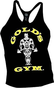 Golds Gym Classic Stringer Tank Top - Black - Size: S