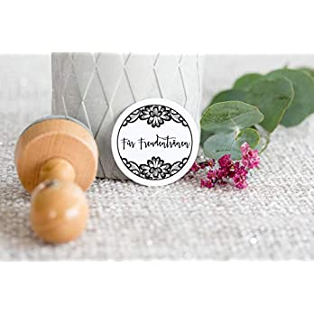Hochzeitsstempel mit Holzgriff rund Nur für Freudentränen Hochzeit_10