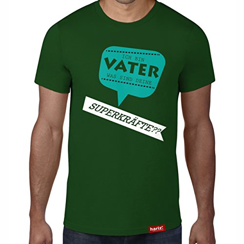sind deine Superkräfte // Original Hariz® T-Shirt - Sechzehn Farben, XS-4XXL // Männer | Geschenk | Geburtstag | Vatertag | Weihnachten #PAPA Collection Bottle Green M (Was Eins Und Was Zwei Halloween)