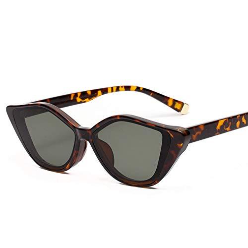 GJYANJING Sonnenbrille Mode Cat EyeSonnenbrille Frauen Vintage Damen Sonnenbrille Männer Schwarz Brillen Uv400 Spiegel Brille