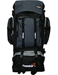 foolsGold Extra Large Hiking Travel Backpack Camping Rucksack Top and Bottom Loading