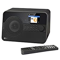 Ocean Digital WiFi WLAN Internet Radio WR238 bluetooth receiver radio streaming music player with AUX IN / 2 ALARM CLOCKS / WEATHER / REMOTE CONTROL - LCD color screen