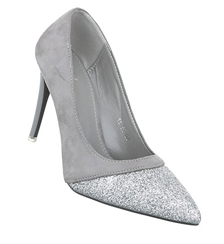 damen pumps schuhe elegant high heels grau amsel. Black Bedroom Furniture Sets. Home Design Ideas