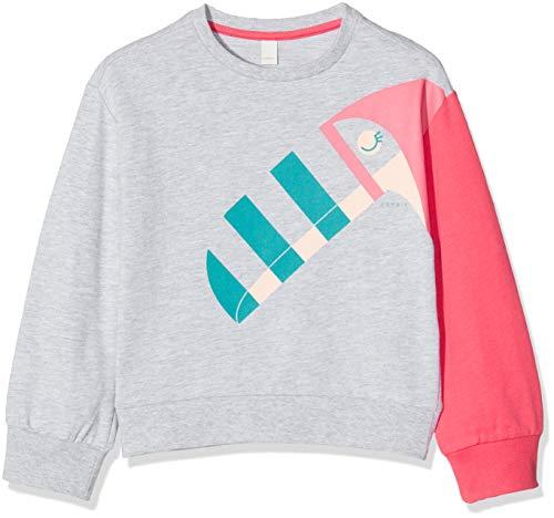 ESPRIT KIDS Mädchen H Sweatshirt, Silber (Heather Silver 223), Herstellergröße: 116+