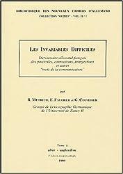Les invariables difficiles en 4 volumes : Tome 1, Aber-Ausserdem ; Tome 2, Bald-Geradezu ; Tome 3, Ern-Nur ; Tome 4, Obendrein-Zwar