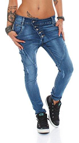 10243 Fashion4Young Damen Jeans Hose Boyfriend Haremsjeans Haremsstyle...