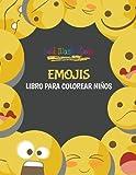 Emojis: Libro para colorear niños