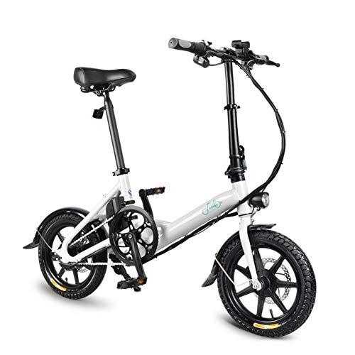CampHiking FIIDO D3 E-Bikes Elektrofahrrad E Fahrrad Für Erwachsene - 250 W, Faltbar, Geschwindigkeit Bis Zu 25 Km/H Mit 40-50 Km Langstreckenbatterie, 16 Zoll Reifen