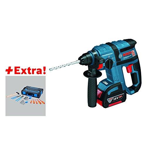 Bosch 0615990j7j 4550ppm Li-Ion 2600g-Bohrhammer-Hammer drehbar (Li-Ion, 18V, 2,6kg, 285mm, 218mm, schwarz, blau)