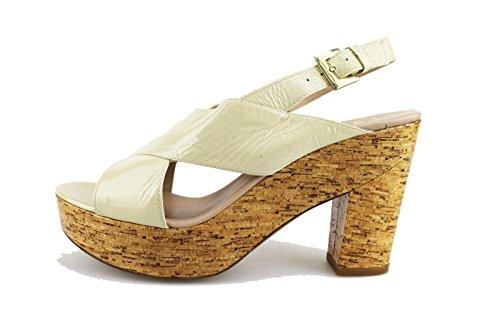 JANET & JANET sandali donna 40 EU beige vernice AG408