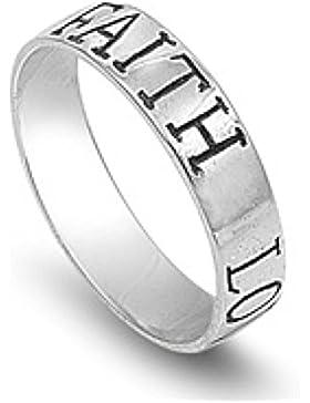 Ring aus Sterlingsilber - Glaube Liebe Hoffnung
