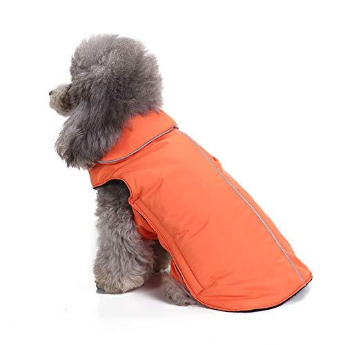 nge Dogs Coat mit Klettverschluss für den Winter, Simple Pet Jumpers Waschbare warme Kleidung für große mittelgroße Haustiere,Orange,XS ()