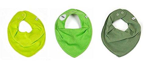 Pippi Set di 3Baby triangolo panno Foulard–Bavaglino Verde