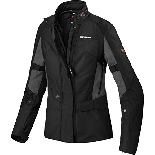 D201-053 36 - Spidi Traveler 2 Curvy H2OUT Ladies Motorcycle Jacket 36 Black (K46)
