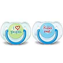 Philips Fashion I Love Avent 8710103655459 Soothers 6-18 Months Pack of 2 Multi-Coloured
