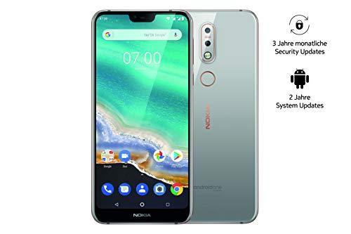 Nokia 7.1 Smartphone (15,38 cm (5,84 Zoll) Full HD Display, 32 GB interner Speicher, 3 GB RAM, Android 8.1, Dual Sim, inkl. Walther Schlüsselbundlampe) grau, exklusiv bei Amazon Full-hd-display