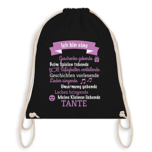 Ich bin eine ... Tante! - Unisize - Schwarz - WM110 - Turnbeutel I Gym Bag (Sport Geburtstag Versorgt)