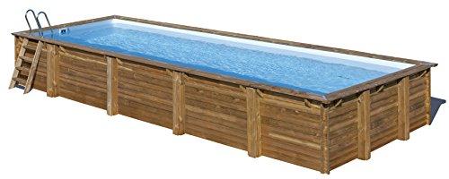 Gre 788032 Piscina con bordi Piscina rettangolare Blu, Marrone piscina fuori terra