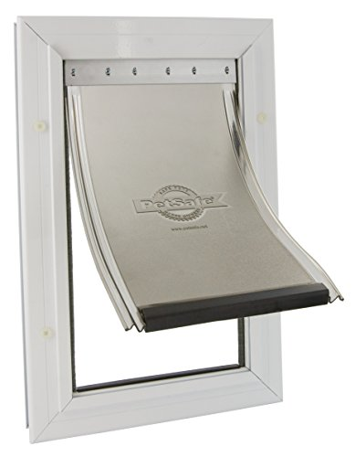 PetSafe Staywell alluminio Pet Porta - Bianco, Extra Large - Cat Flap Per Porte