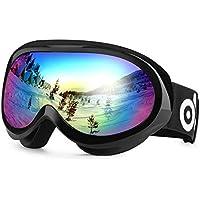 Odoland Kinder Skibrille, Snowboardbrille für die Jugendliche 8-16 Jahre Dual-Linse Anti-Fog UV-Schutz Schneebrille Helmkompatible