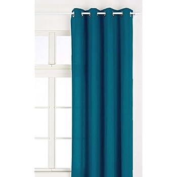 Linder 511/47/375FR/135 Rideau à Œillets Coton/Lin Bleu Canard 135 x 260 cm