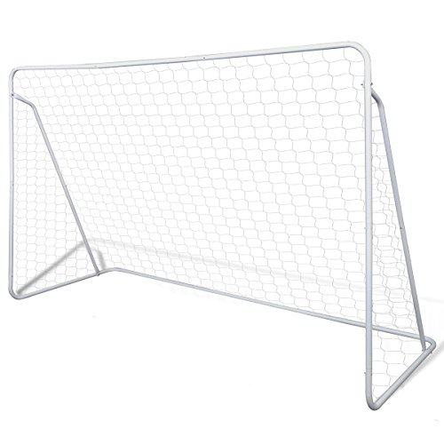 vidaXL Football Goal Soccer Goal Net Post Football Equipment Sporting Steel Frame