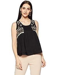 global desi Women's Plain Regular Fit Top