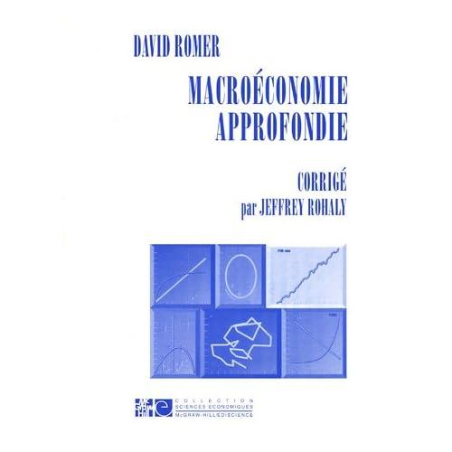 Macroéconomie approfondie : Corrigé