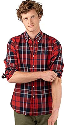 El Ganso Casual INTEREAON Camisa, Rojo (Rojo 0044), edium para Hombre