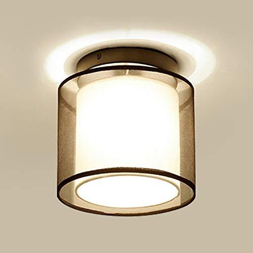 Marrón Negro Hierro forjado LED Lámpara de techo Lámpara de pared Cubierta...