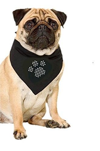 Halstuch für Hunde (mit eigenem Stick!) – Pfotenmotiv - 2