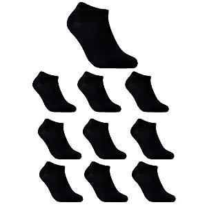 10 Paia di Calzini Sportivi Uomo Calze Donna Antiscivolo Calze Sportive Uomo Donne Corti in Cotone EU 37 38 39 40 41 42
