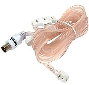 Antenne FM Ruban UNI Ruban FM universel pour antenne pour une meilleure réception du signal radio FM permet Ruban de discret positionnement dans la maison liaisons coaxiales formation T Plat double-câble-ruban 300 Impédance :  6 ohms, FT à ploMB