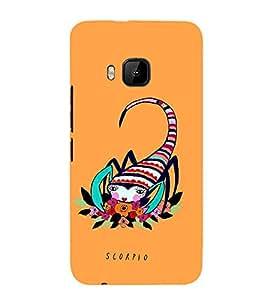 Fiobs Designer Phone Back Case Cover HTC One M9 :: HTC One M9S :: HTC M9 ( Scorpio Zodiac Sign Luck )