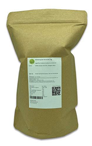 Vollmilchpulver 26 % Fett 1 kg Trockenmilch Milchpulver Vollmilch getrocknet