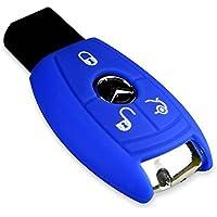 E-Senior Funda de silicona para llave de coche Mercedes Benz Clase C CL CLK S G G M S SL SLK, azul