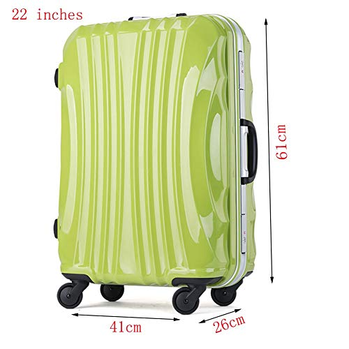 RUNWEI Valigie per Bagagli espandibili AntiGraffio per Trolley Rigido Valigia Trolley (Color : Green, Size : 22 Inches)