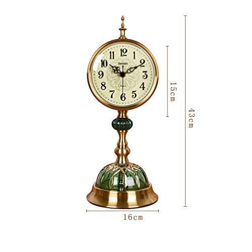 BGGZXX Tisch Tischuhr Halterung Uhr Quarzuhr, Stumm Dekorative Verzierungen 43Cm * 16Cm, Kreativ Wohnzimmer Haushalt