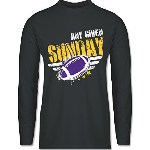 Shirtracer American Football - any Given Sunday Football Minnesota - Herren Langarmshirt Dunkelgrau