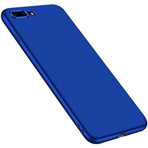 iPhone 7Plus Ultra Sottile in Silicone Opaco di caso + Colore copertura completa pellicola protettiva, sunavy 360gradi Anti Urti Anti Graffi Ultra Leggeri soffice tappetino Proteggi Custodia per app Blau