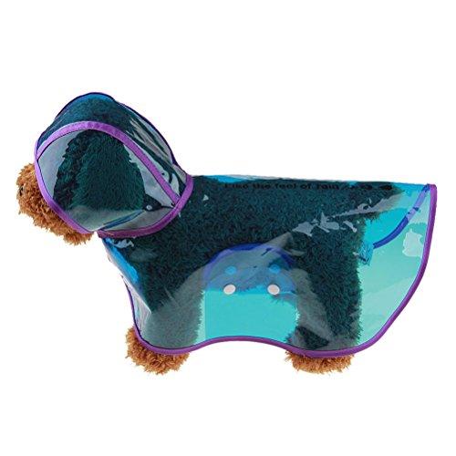 Zhhlaixing Trasparente Cane Impermeabile per cani con cappuccio Giacca Cappotto Impermeabile Raincoats Size:XS-6XL per Giorni di Pioggia