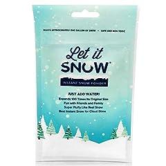 Idea Regalo - Let it Snow Neve Artificiale Che Rende Magica Neve Fresca Bianca per la melma delle Nuvole, Feste di Compleanno a Tema congelate 4 litres