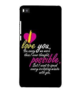 Fuson Designer Back Case Cover for Huawei P8 (I love you more )