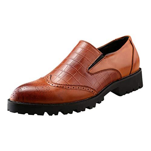 NnuoeN☀ Scarpa da Uomo Oxford Sneaker Dress Shoes-Elegante Wingtip Brogue Oxfords Scarpe da Lavoro Formali Classic Boot Mocassini
